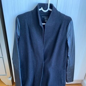 Scoop NYC Wool & Leather Jacket Sz P/Petite/Small